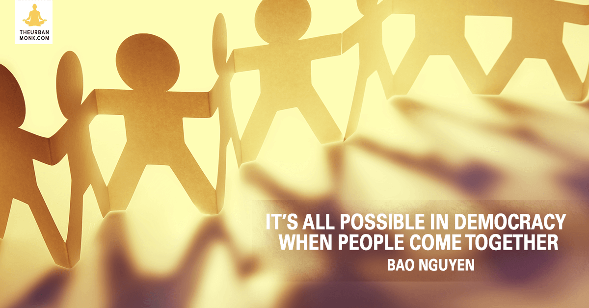 It's All Possible In Democracy When People Come Together - @OfficialBao via @PedramShojai
