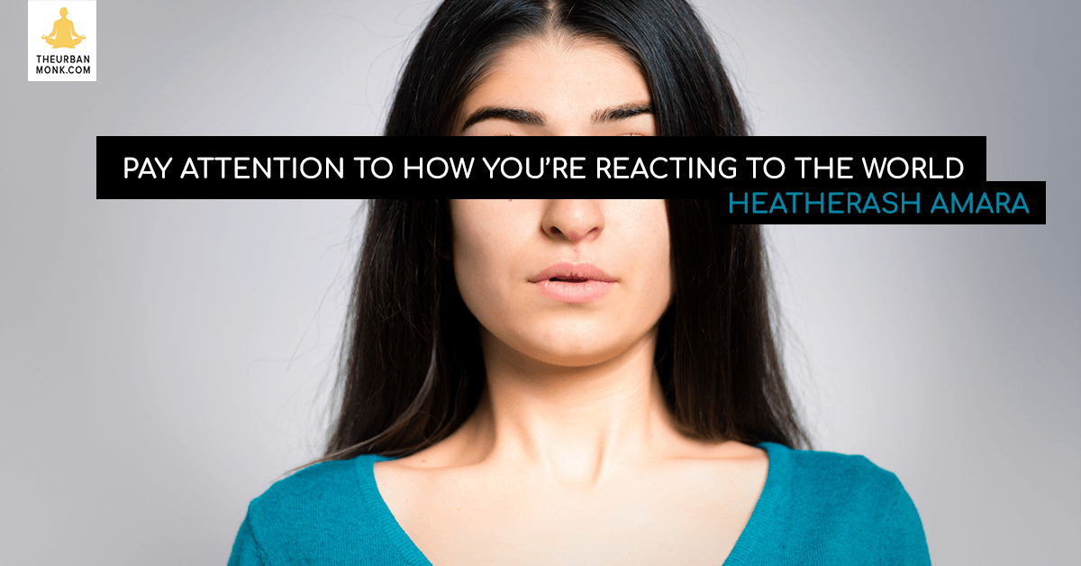 Pay Attention To How You're Reacting To The World - @HeatherAsh via @PedramShojai