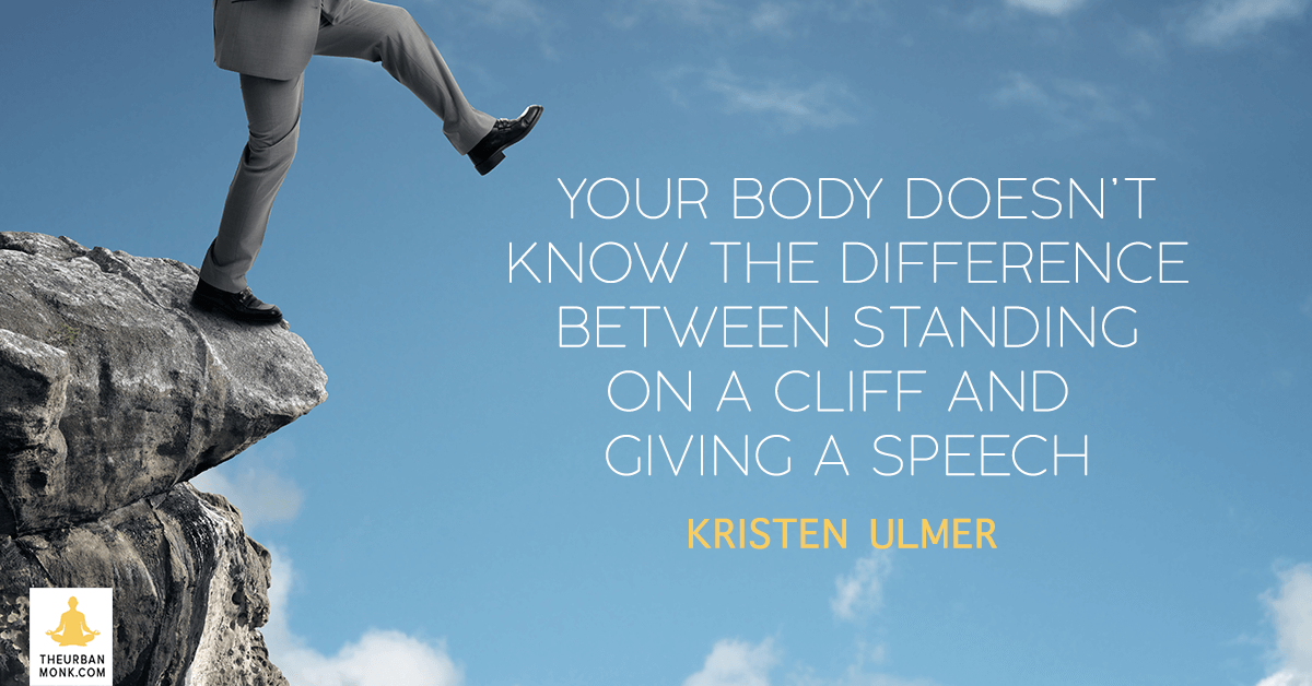 Your Body Doesn't Know The Difference Between A Cliff And Stage  - @kristenulmer via @pedramshojai